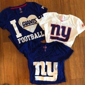 VS Pink - Lot of 3 NY Giants Tees